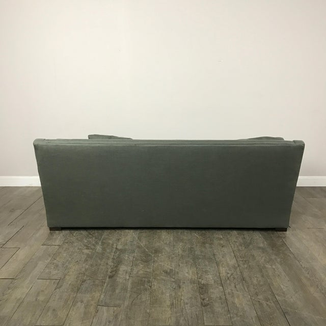 Crate Barrel Canvas Sofa In Forest Chairish