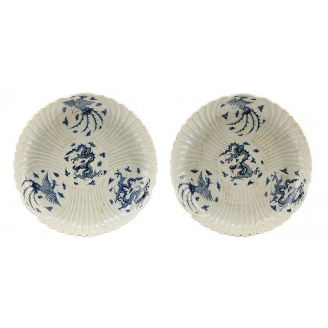 Chinese Blue & White Porcelain Chargers - A Pair - Image 1 of 9