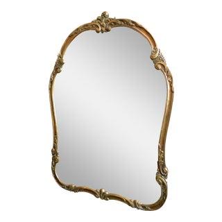 Vintage Serpentine Framed Mirror