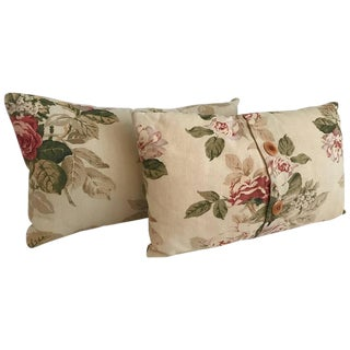 Vintage French Floral Pillows - A Pair