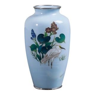 A Japanese Cloisonné Enamel Vase Late Showa Period