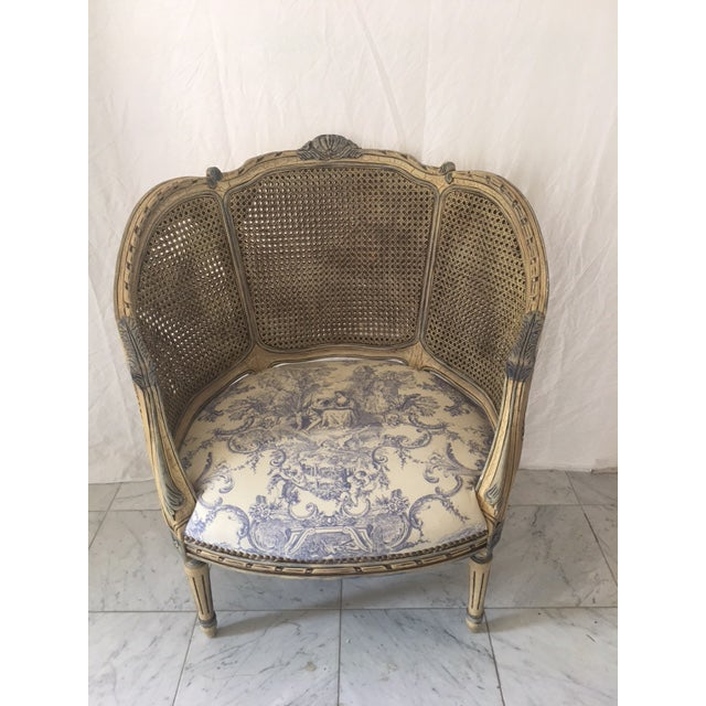 Antique French Double Cane Bergere Chair Chairish