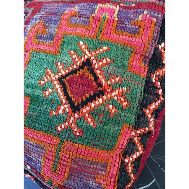 Moroccan Rug Floor Pouf - Image 4 of 5