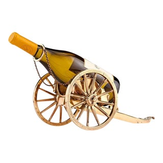 19th Century Silver Gilt French Wine Trolley