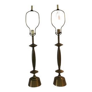1940s Brass Lamps - A Pair