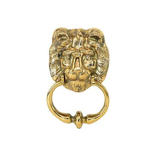 Solid Brass Lion's Head Door Knocker