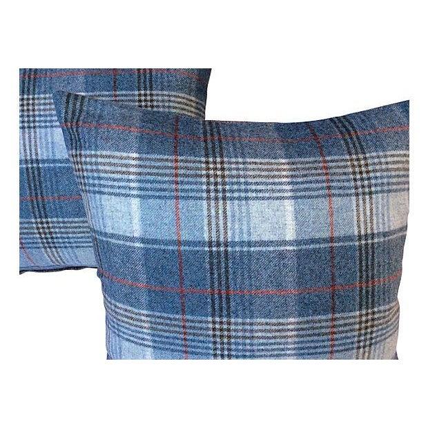 Scottish Wool Plaid Pillows - Pair - Image 2 of 3