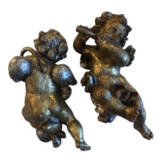 Gilt Wood Italian Angels - A Pair