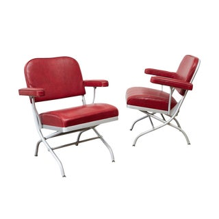 Warren McArthur Folding Armchairs - A Pair