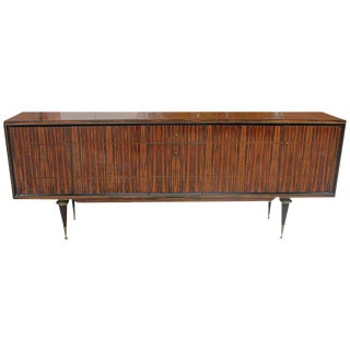 1940s Vintage French Art Deco Macassar Ebony Sideboard/Buffet
