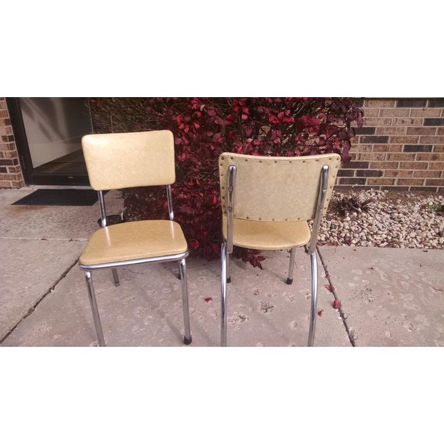 Howell Vintage Chrome Chairs - A Pair - Image 5 of 6