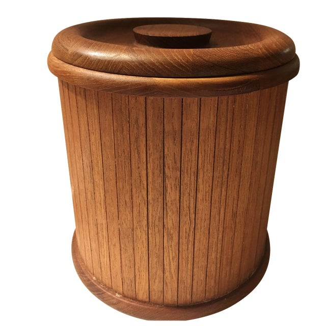 Mid-Centry Teak Panel Ice Bucket - Image 1 of 9