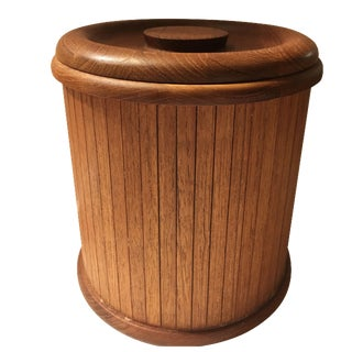 Mid-Centry Teak Panel Ice Bucket