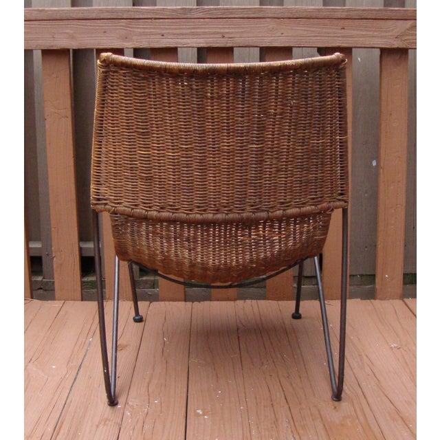 MCM Modern Wicker Iron Frederick Weinberg Chair - Image 10 of 10