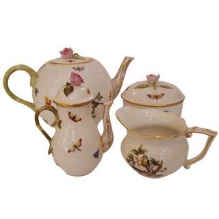 4-Piece Herend Rothschild Bird Tea Set