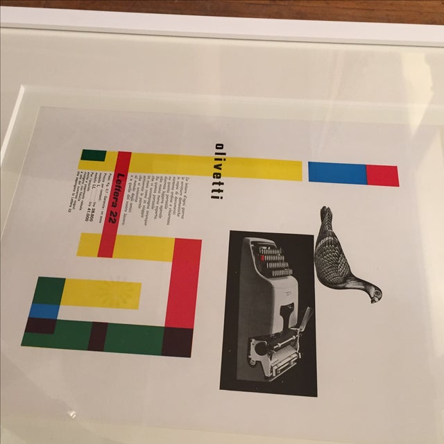 Image of 1954 Vintage Advertising Print Olivetti Lettera 22