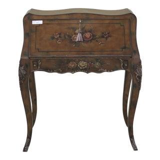 Slant Front French Louis XIV Paint Decorated Lady Desk
