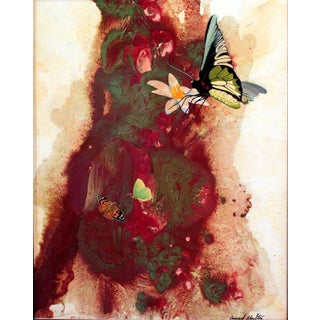 Abstract With Butterflies Giclee Print