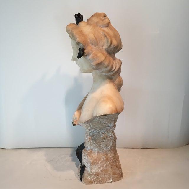 Image of Antique 1920s Italian Alabaster Bust