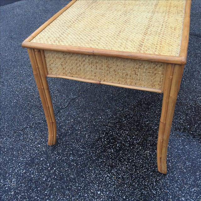Vintage Island Bamboo Rattan Writing Desk - Image 10 of 11