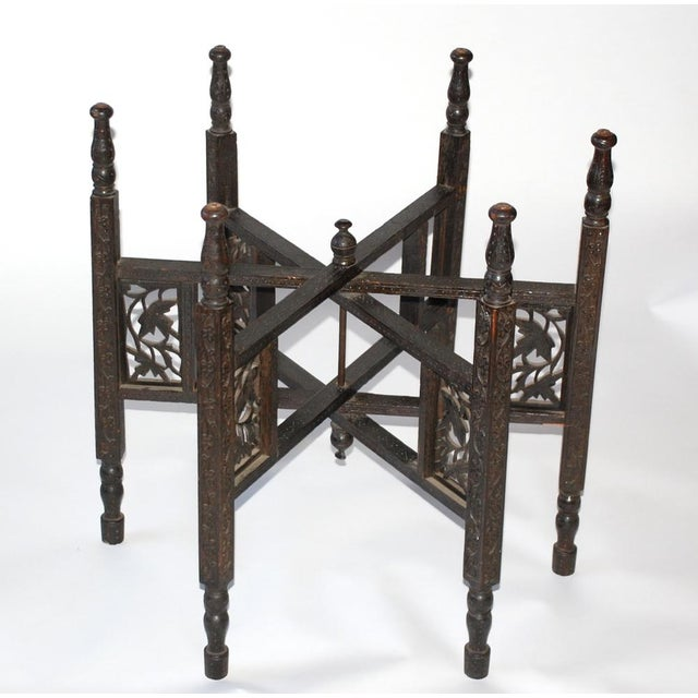Anglo-Indian Copper Tray Table With Folding Wooden - Image 5 of 6