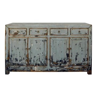 Chinese Elm Wood Sideboard in Rustic Gray