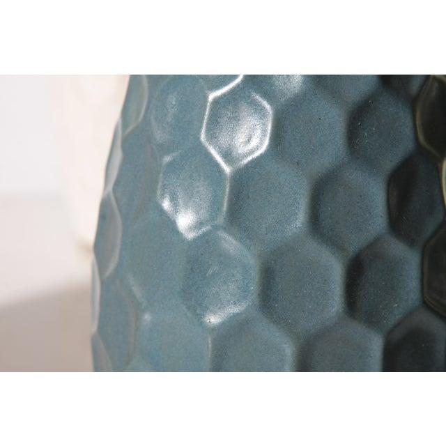 Image of Teal Honeycomb Lamp - Pair