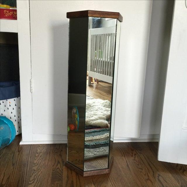 Mid-Century Modern Mirror and Wood Podium - Image 2 of 3