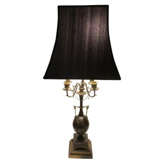 Cahieux French Noir Candelabra Lamp