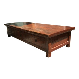 Antique Rustic Asian Low Coffee Table