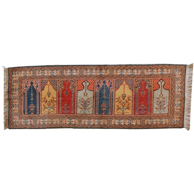 1960s Handmade Turkish Kayseri Runner - 2' X 5.6' - Image 9 of 10