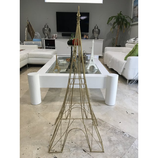 "Giant Eiffel Tower Sculpture Iron & Rare 46"" tall 18"" wide. - Image 4 of 11"