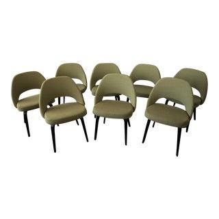 Knoll Saarinen Executive Green Armless Chairs- Set of 8