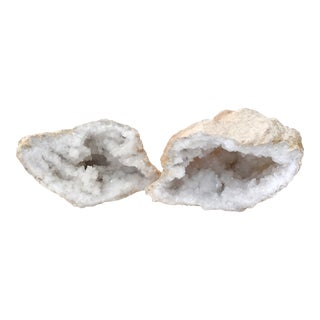 Quartz Crystal Geode - A Pair