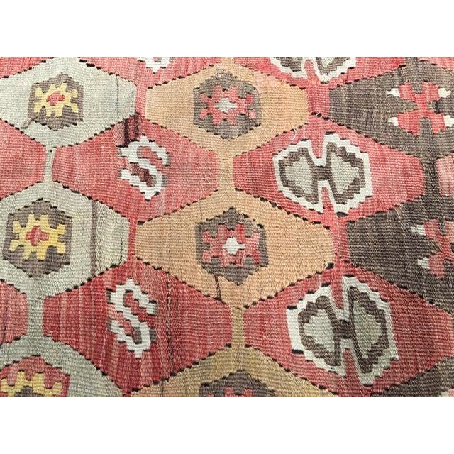 """Vintage Turkish Kilim Rug - 9'10"""" x 11'2"""" - Image 6 of 8"""