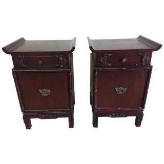 Asian-Style End Tables - Pair