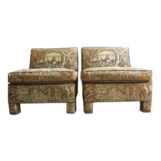 Vintage Billy Baldwin Club Lounge Chairs - A Pair