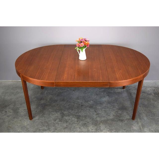 Hornslet Møbelfabrik Danish Teak Dining Table w/ 2 leaves - Image 6 of 11