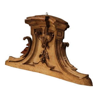 18th Century Italian Pearwood Hanging Carving With Bow Front