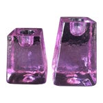 Image of Purple Ice Cube Candle Holders - A Pair