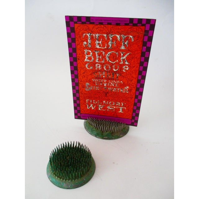 Green Cast Iron Flower Holder - A Pair - Image 5 of 10