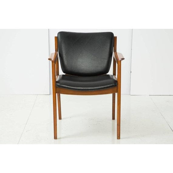 Danish Modern Armchair With Back Leather Seat - Image 4 of 4