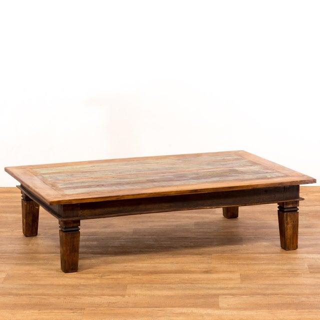Solid Reclaimed Wood Coffee Table: Handmade Reclaimed Solid Wood Large Coffee Table