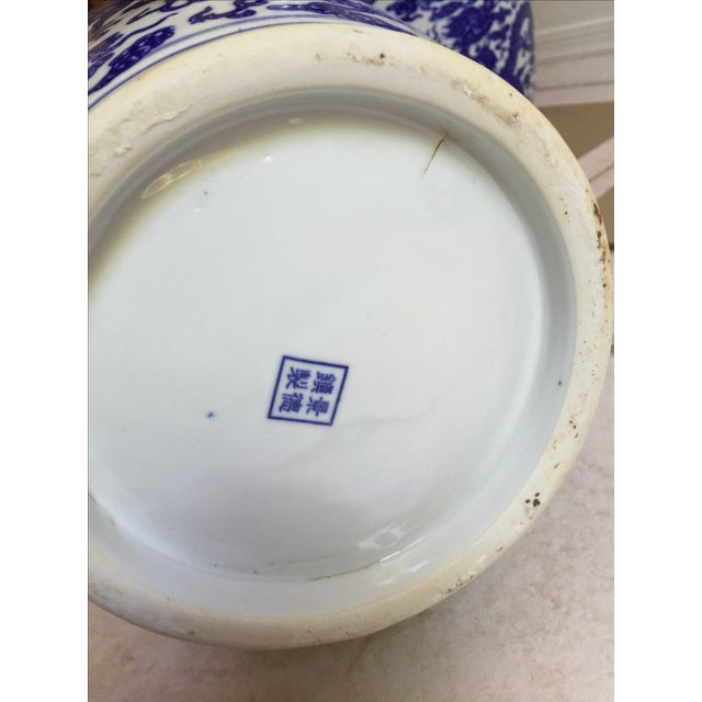 Chinese Blue & White Vases - Pair - Image 5 of 5