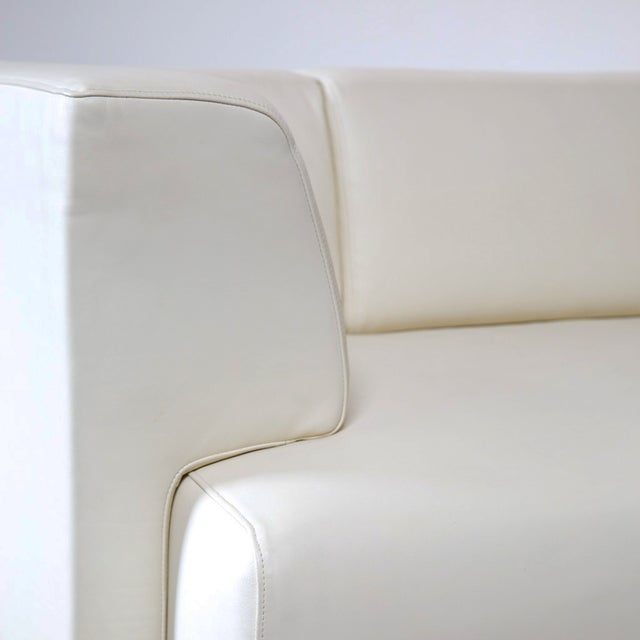 Maurice Villency Ivory Leather Sofa - Image 4 of 5