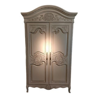 Hand Carved Mahogany French Armoire