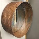Image of Round Repurposed Metal Mirror