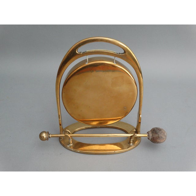 Art Deco Edwardian Brass Table Gong - Image 2 of 6
