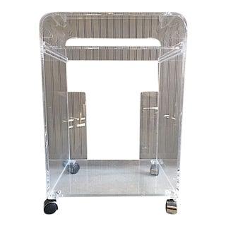 Lucite Rolling Bar Cart
