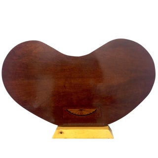 Art Deco Rosewood Kidney Shaped Lap Desk & Stand